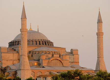 The beautiful church of Hagia Sophia has standed the test of time despite natural wars and natural disasters.