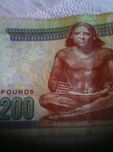 200 pounds of Egyptian cash should be more than enough to get you at least a mango juice and some snacks.