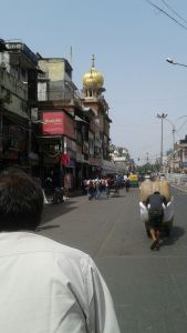 Entering Old Delhi